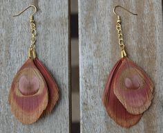 Pink Peacock Earrings for V-Day!