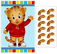 $20 Pin the Tail on Daniel Tiger Birthday Blue Party Game – PAPER BLAST