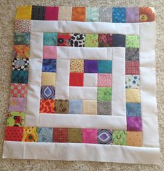 My Sewing Room: Design Wall Monday - Playing with squares