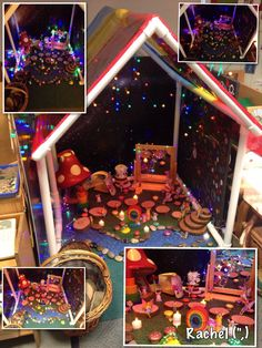 A Fairy World. from Stimulating Learning with Rachel or make frame for light table. Sensory Activities, Sensory Play, Activities For Kids, Eyfs Outdoor Area, Role Play Areas, Small World Play, Outdoor Classroom, Play Based Learning, Play Centre