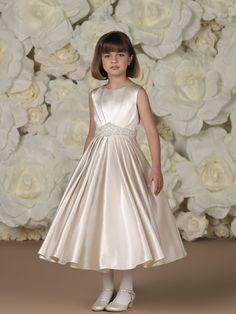 b5fd8aa75ae Joan Calabrese for Mon Cheri 110305 Sleeveless satin and tulle tea-length  dress