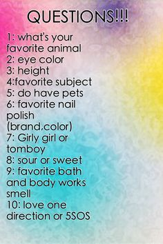 COMMMMEEENNNTTTT (Btw, for some reason, the last one of these I did, I was inexplicably unable to comment. Think I've fixed it. Do You Know Me, Talk To Me, Just For You, Let It Be, Questions To Ask, This Or That Questions, Who Knows Me Best, Friend Quiz, Fun Sleepover Ideas