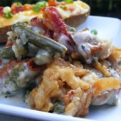 Green Bean Casserole Remix - Allrecipes.com Think I might substitute cheddar for the parmesan but this sounds SO yummy.