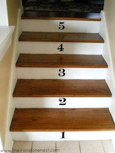 Numbered Stairs staircase designs
