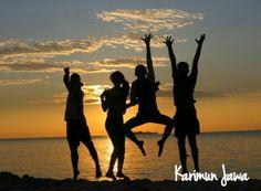 Menikmati senja bersama Sahabat di Kepulauan Karimun Jawa