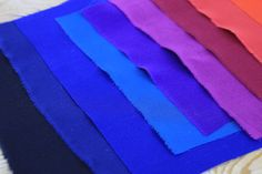 Assorted Crepe De Chines Fabrics, Rainbow, Summer, Tejidos, Rain Bow, Summer Recipes, Fabric, Cloths, Summer Time