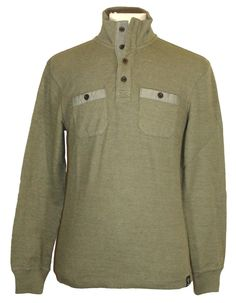 lucky brand long sleeve cotton blues solid thermal shirt new lucky brand mens sweater mockneck french rib knit cotton green s nwt 79 50