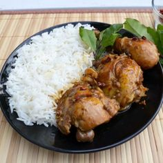 Filipino Chicken Adobo. Ladies at work always bring to pot lucks. So simple and easy in the crock pot. Kids like it too.