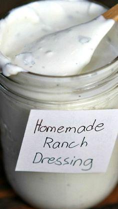 Homemade Ranch Dressing ~ SOOOOOO much better than the  store-bought stuff.