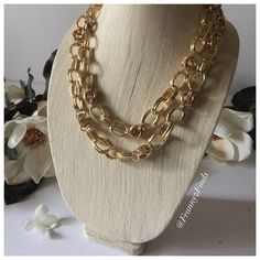 • Gold Link & Crystal Necklace • Material content: Base metals and glass crystals  t+j Designs are found in speciality boutiques worldwide. Now available to you on Poshmark!  PRICE FIRM Frannyzfinds Jewelry Necklaces