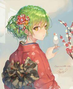 Pretty anime girl illustration