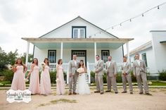 Star Hill Ranch Wedding, Austin Wedding Photographer, Travis County Photographer, Star Hill Ranch Photographer,  Lakeway Photographer, Jennifer Weems Photography, bride and groom, wedding party, pink bridesmaid, grey groomsmen