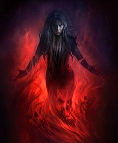 fire and dark εικόνα