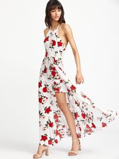 Shop Calico Print Hollow Out Slit Crisscross Back Dress online. SheIn offers Calico Print Hollow Out Slit Crisscross Back Dress & more to fit your fashionable needs.