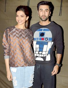 Deepika Padukone and Ranbir Kapoor at Mehboob Studios. #Bollywood #Fashion…