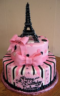 Paris Cake!!! [I'm in LOVE! Maybe this will be my next birthday cake!!!]: