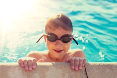 Wearing goggles is more than just for fun, it's also necessary for your safety. Prescription swimming goggles will help you see the pool walls and other swimmers around you, while also protecting your eyes from the harsh chlorine. Glasses Guide, Goggles Glasses, One Small Step, Kids Swimming, Swimmers, Just For Fun, Ultra Violet, Protective Cases, Underwater