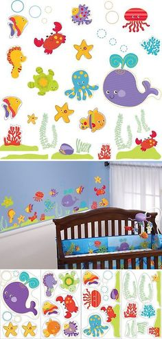Other Nursery Wall D cor 20430: Brewster Fisher-Price St99797 Peel And Stick Ocean Wonders Wall Decals, 4-S... New -> BUY IT NOW ONLY: $62.99 on eBay!