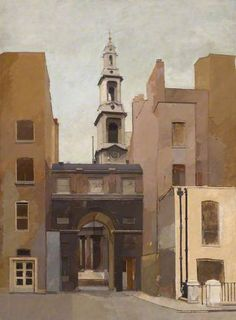 Euan Uglow | King's College Gateway | 1965 |  Oil on canvas, 100 x 74 cm Collection: King's College London