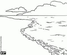 Malvorlagen Landschaft Mit Strand Meer Und Wolken Ausmalbilder Ozean Zeichnung Malvorlagen Meer Zeichnung