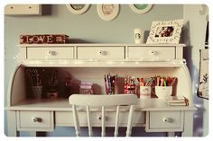 desk, bedroom, vintage, melina souza