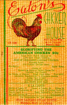Eaton's Chicken House 1931