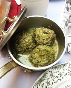 pesto meatballs at D