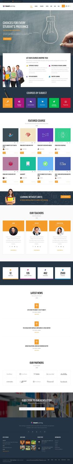 Smart Learning is dedicated WordPress #theme for #Education and E-Learning with creative design and ease of customization #website. Download Now!