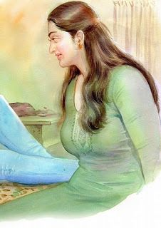 Sexy Painting, Painting Of Girl, Tamil Girls, Indian Art Paintings, Watercolor Landscape Paintings, Female Art, Art Girl, Gorgeous Girl, Actresses