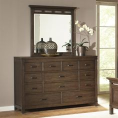 Riverside 84560-84561 Promenade Ten Drawer Dresser and Mirror available at Hickory Park Furniture Galleries