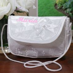 Embroidered Flower Girl Purse | Personalized Flower Girl Gifts | GiftsForYouNow.com