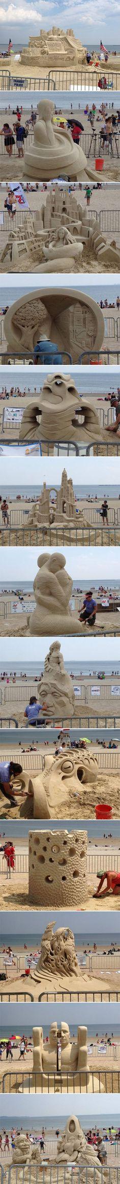 Revere Beach Sand Sculpting Festival, the octopus was the winner…