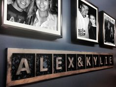 A couple's sign. Oh the possibilities! Available in 5 different aged metallic finishes. Create your own custom sign.