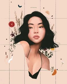 Illustrations by Janice Sung - Chloe Dominik Art illustration Art And Illustration, Portrait Illustration, Animal Illustrations, Character Illustration, Art Sketches, Art Drawings, Drawing Faces, Drawing Hair, Drawing Style