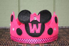 Minnie Mouse Felt Crown Hot Pink. $22.00, via Etsy.
