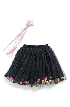 Cute... tulle with pompoms inside.   Billieblush Glitter & Pompom Tulle Skirt (Little Girls & Big Girls) available at #Nordstrom