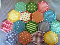 Silly Goose Quilts: Quilt As You Go Hexagons