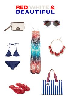 red, white & blue outfit ideas for July Fourth from This Consuela Life blog
