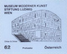 Stamp: Museum Moderner Kunst Stiftung Ludwig Wien (Austria) (Modern Architecture) Mi:AT 2998,Sn:AT 2362,Yt:AT 2827,Sg:AT 3156a,ANK:AT 3027,WAD:AT030.12
