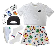 """""""candy"""" by paper-freckles ❤ liked on Polyvore featuring Monki, Brixton, adidas Originals and Holga"""