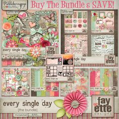 Every Single Day - The Bundle! by Fayette Designs 35% off at Pickleberrypop. Also available in separate packs at 20% off each