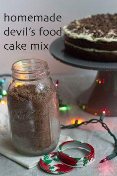 Homemade Devil's Food Cake Mix