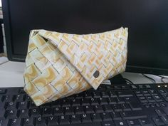 Wrapper snap pouch Wrapper-made snap pouch. I made this with a hundreds of cafe blanca empty foil. Doing this is just my hobby and later on became my parttime business. Philippines, Empty, Pouch, Shoulder Bag, Business, Handmade, Gifts, Bags, Handbags