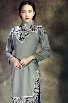 ROC Style Mandarin Gowns For Chinese New Year, Etsy by AnnularRings, $309.00
