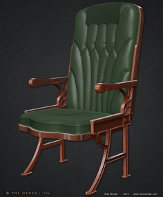 ArtStation - Airliner chair - The Order: 1886, Alec Moody