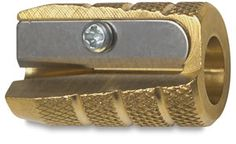 The Alvin Brass Bullet pencil sharpener - at art supply stores - made in Germany by people who know how to make stuff!