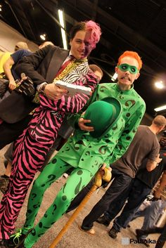 The Riddler and Two-Face, Batman Forever, picture by Pat Loika - WonderCon 2013.