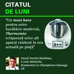 Acest gadget denumit și bucătăria în miniatură, este apreciat de faimosul David Everitt Matthias, bucătar distins cu 2 stele Michelin. Thermomix este menit să aducă bucătăria viitorului în casa ta. Stele, Restaurant, Shopping, Thermomix, Diner Restaurant, Restaurants, Supper Club