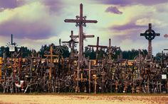 The Hill of Crosses is a Catholic pilgrimage site that was established in the 1830s. It is thought to contain at least 100,000 crosses and giant crucifixes, and was been described by Pope John Paul II as a place for hope, peace and love. You wouldn't want to spend the night here alone, however.