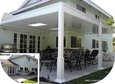 Advantages of vinyl patio covers over aluminum http://vinyl-concepts.com/aluminum-patio-covers/ #patio #patiocovers #vinylconcepts